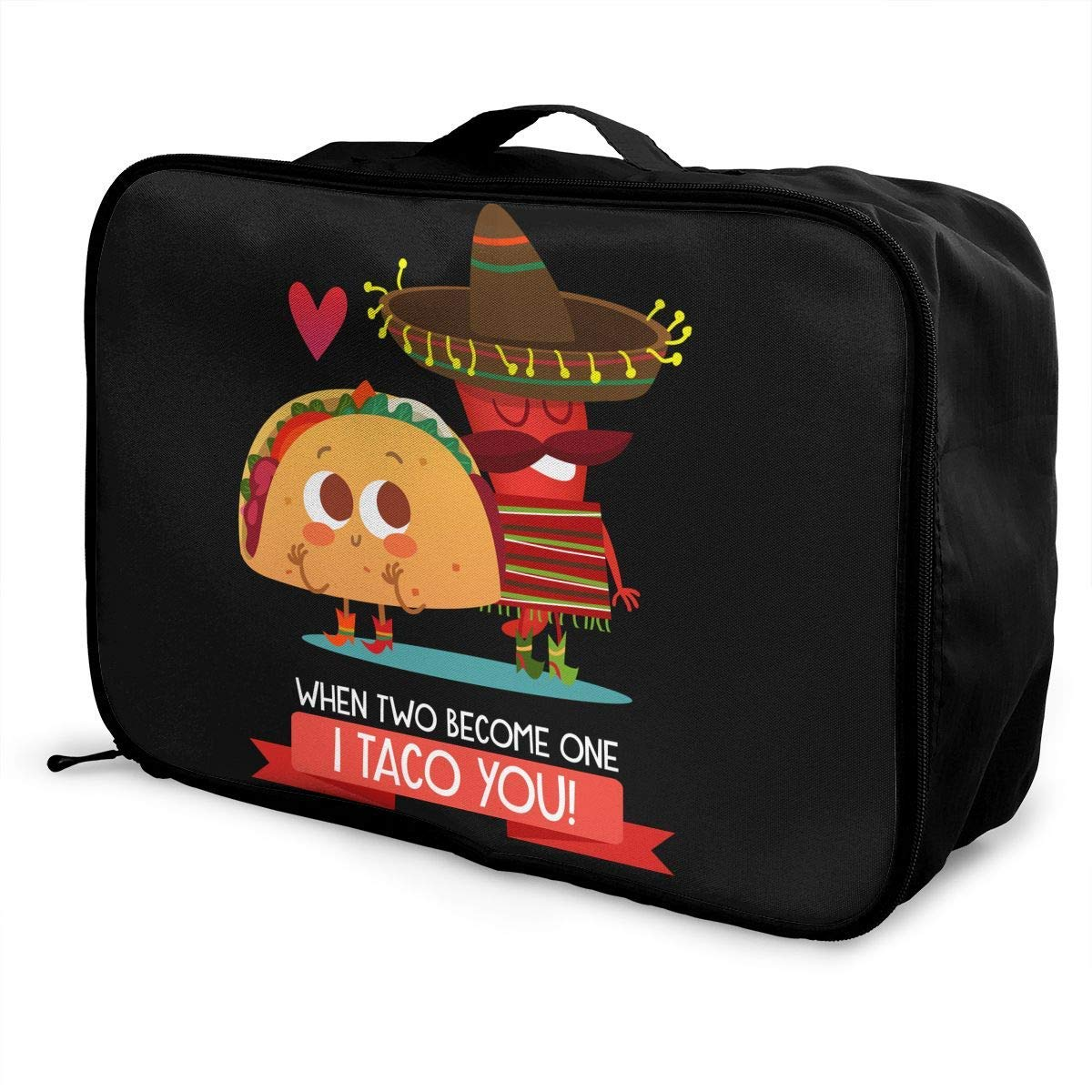 Portable Luggage Duffel Bag Funny Taco Travel Bags Carry-on In Trolley Handle