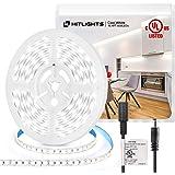 HitLights Cool White LED Strip Lights, UL-Listed Premium High Density 16.4ft, 600LED, 5000K, 48W, CRI 91.5, 12V DC LED Tape L