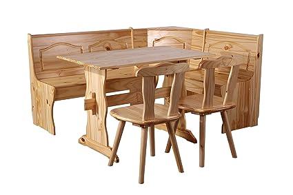 Panca Ad Angolo Per Cucina : Sixbros panca ad angolo rustica pino massiccio naturale dc n