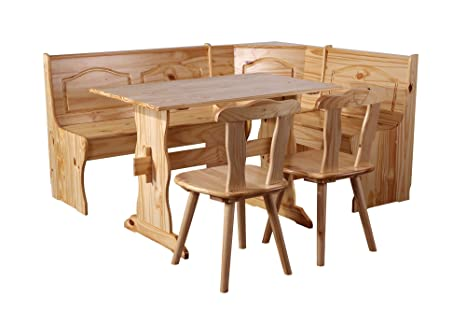 Panca Per Cucina Rustica : Sixbros panca ad angolo rustica pino massiccio naturale dc n