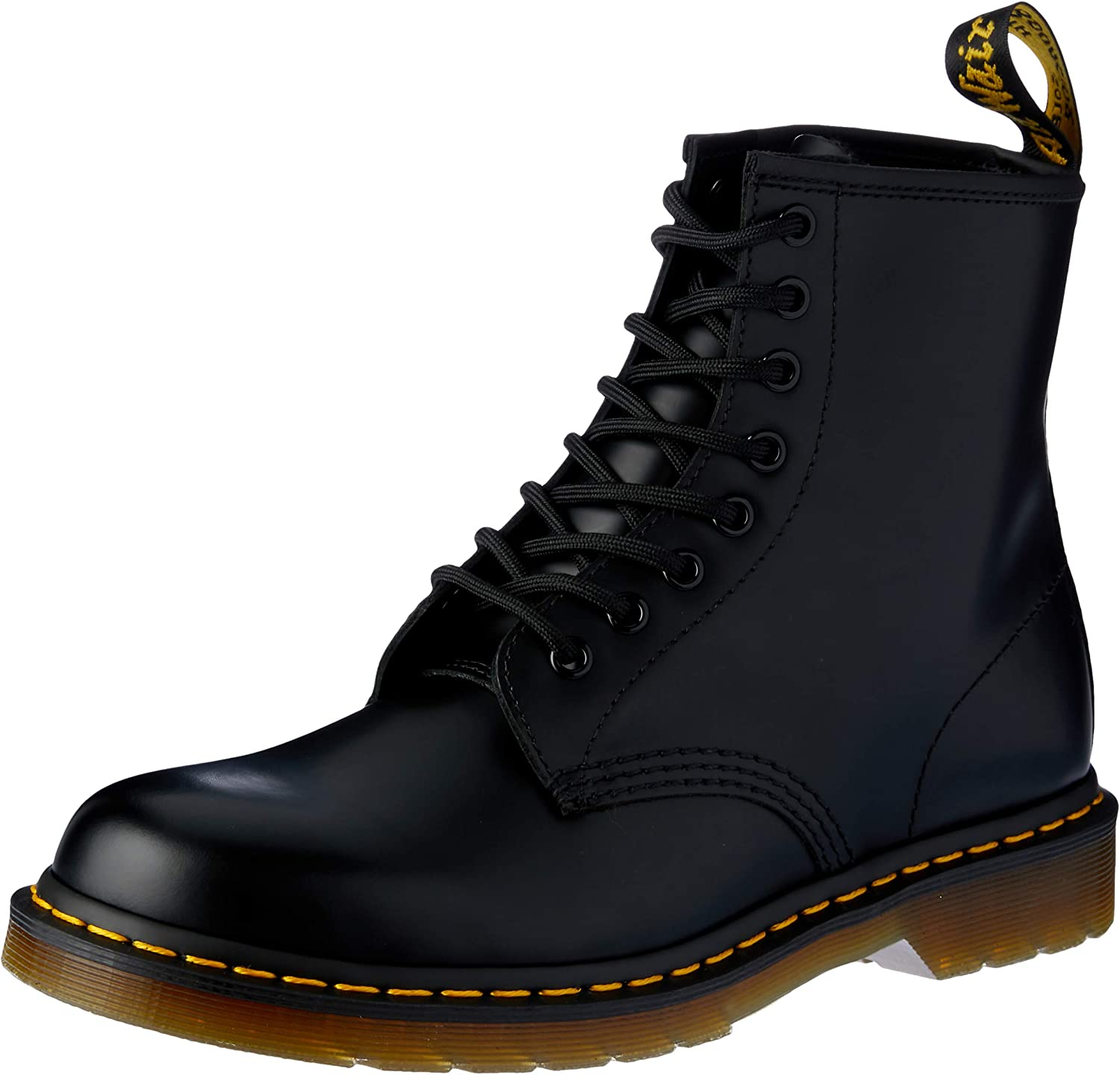 Brigantino Gregge industria  Amazon.com | Dr. Martens, 1460 Original 8-Eye Leather Boot for Men and  Women, Black Smooth, 11 US Women/10 US Men | Motorcycle & Combat