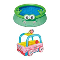 Summer Waves 6 Foot Frog Character + Ice Cream Truck Pool