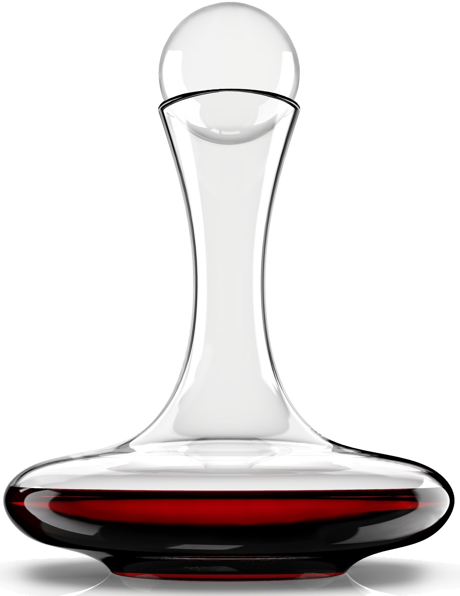 Venero Wine Aerator Decanter Set - Lead Free Crystal Glass Carafe and Stopper - Aerating Liquor Pourer with Lid for Red Wine, Cognac, Bourbon, Scotch, Irish Whiskey - Luxury Gift Box for Men or Women