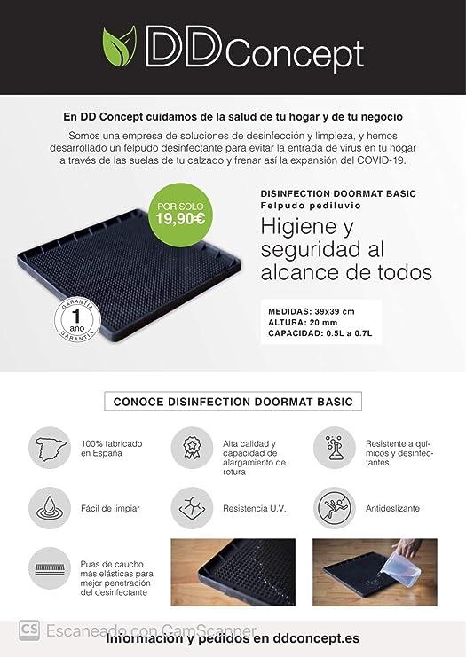 Felpudo Desinfectante Fabricado en España 39x39 cm: Amazon.es: Hogar