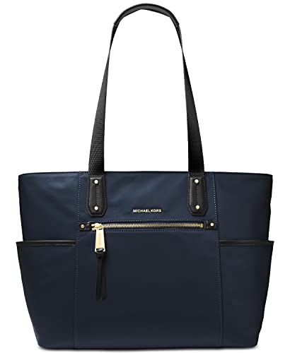 d7e06c1aaf6 Amazon.com  MICHAEL Michael Kors Polly Top Zip Nylon Tote (Admiral ...