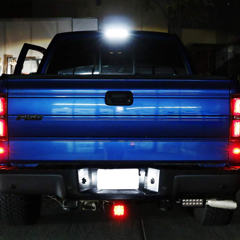 SENSHINE License Plate Light for Ford F-150,LED License Plate Lamp for Ford F-150 F-250 F-350 F-450 F-550 Superduty Pickup Truck Ranger Explorer Expedition Excursion Lincoln Bronco Heritage 2 Pack