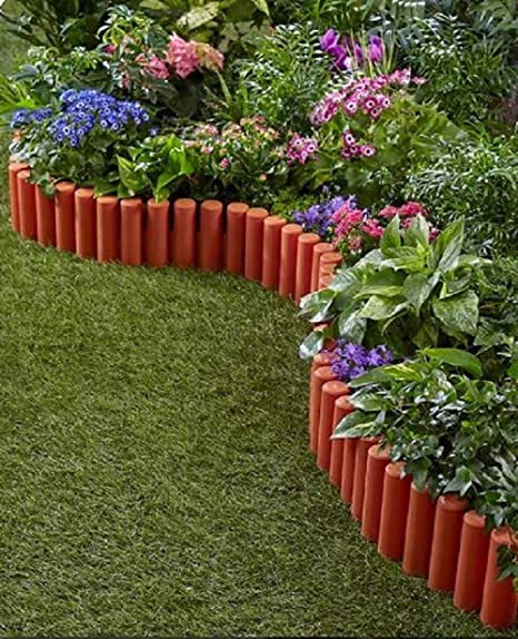 Superbe TRM Flexible Garden Edging Border Fence Set 7FT