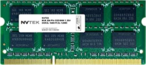 NVTEK 8GB DDR3-1600 PC3-12800 SODIMM Laptop RAM Memory Upgrade