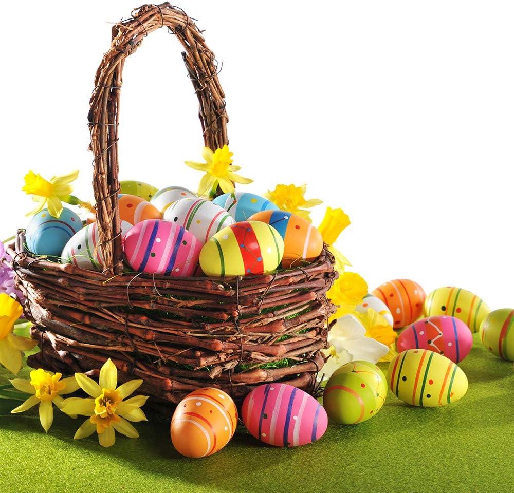 Pllieay 10 St/ück 8,4 cm Osterschaum-Eier gro/ß wei/ß Polystyrol-Schaum-Eier zum Malen Ostern Basteln und Party-Dekorationen