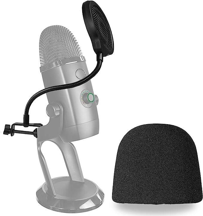 Yeti X Mikrofon Popschutz Mit Windschutz Dreischichtiger Pop Schutz Und Windshield Für Das Blue Yeti X Mic Zur Aufnahme Von Youshares Musikinstrumente