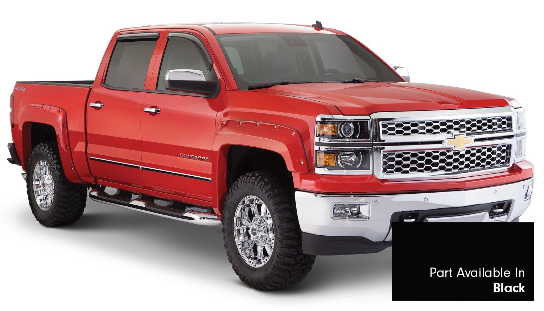 Set of 4 Bushwacker 40957-34 Black Fender Flare for Chevrolet,