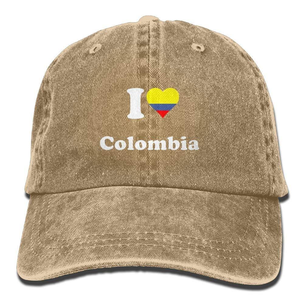 Youaini Love Colombia Adjustable Baseball Caps Denim Hats Cowboy Sport Outdoor
