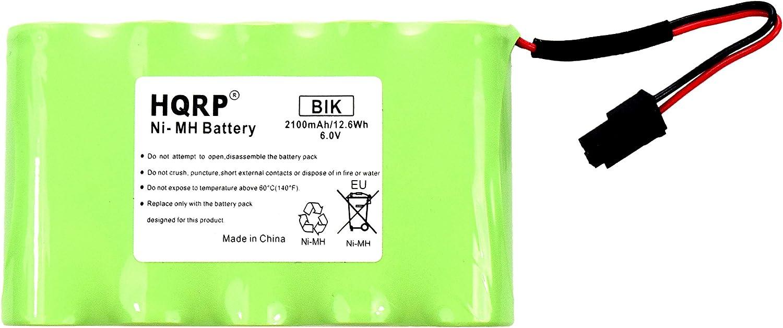 HQRP Backup Battery Compatible with GE Interlogix Simon Xti XTi-5 Security System 600-XTI-BAT A2100Mah 6V Wireless Control Panel