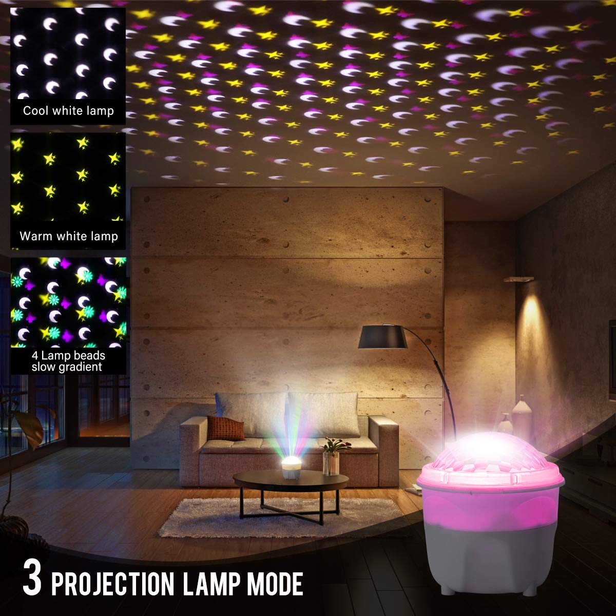 Greatlizard Night Light Projector Indoor,360 Degree Rotating Projector Night Lamp with Timer Decoration for Christmas,Halloween,Birthday,Wedding Party by Greatlizard
