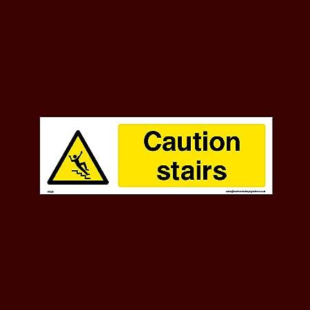 USSP&S Precaución escaleras Cartel de plástico con Cinta ...