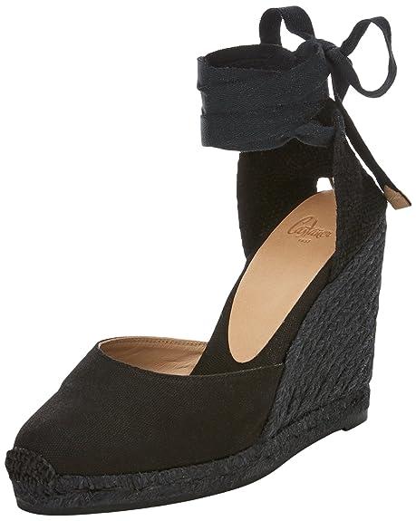 Castañer Carina 10 600C, Alpargatas para Mujer, (Classic Canvas/Yute Negro), 36 EU: Amazon.es: Zapatos y complementos