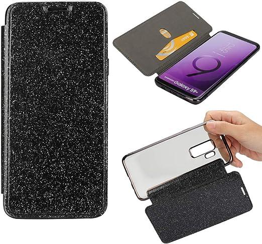 Yobby Glitzer Brieftasche Hülle Für Samsung Galaxy S9 Elektronik