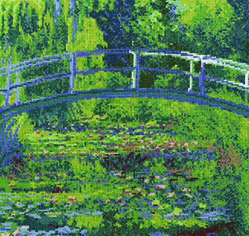- DMC Cross Stitch Kit - The National Gallery - Monet - The Water-Lily Pond