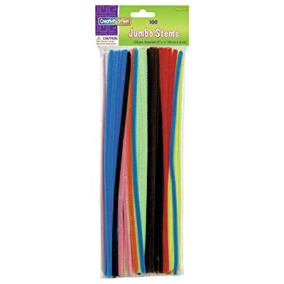 Creativity Street Chenille Stems/Pipe Cleaners 12 Inch x 6mm 100-Piece, Assorted Colors: Toys & Games
