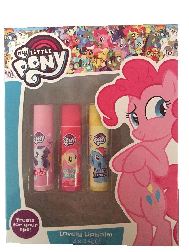 My Little Pony enfants LIP BALM TRIO Lot de 3 Baumes pour les lèvres Ensemble cadeau