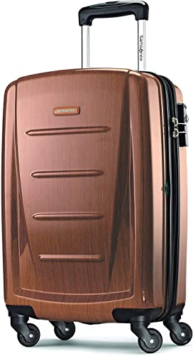 Samsonite Winfield 2 Hardside Expandable Luggage with Spinner Wheels, Rose Gold, Carry-On 20-Inch