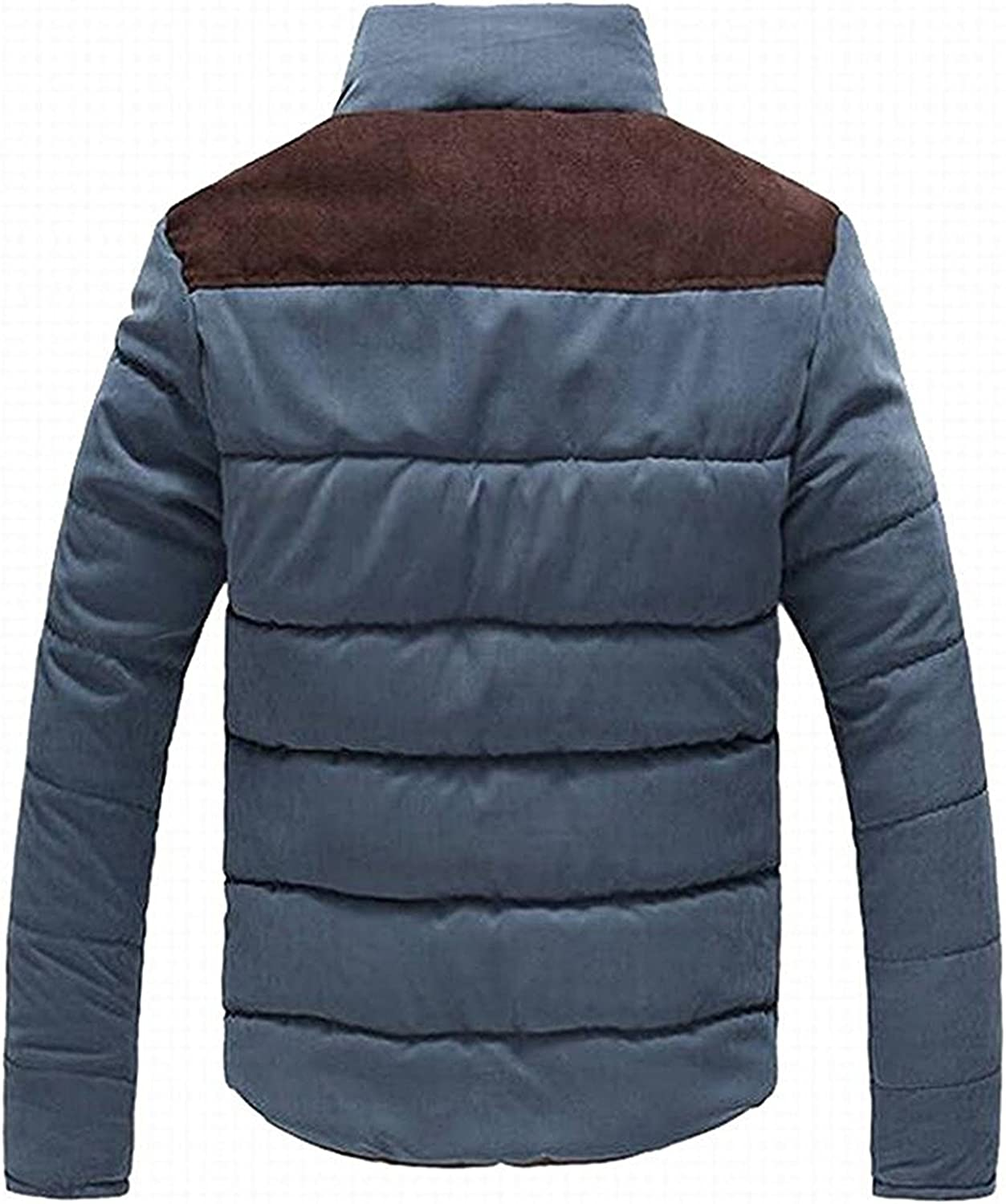 Swimblue Mens Casual Thicken Warm Quilted Down Puffer Jacket Coat