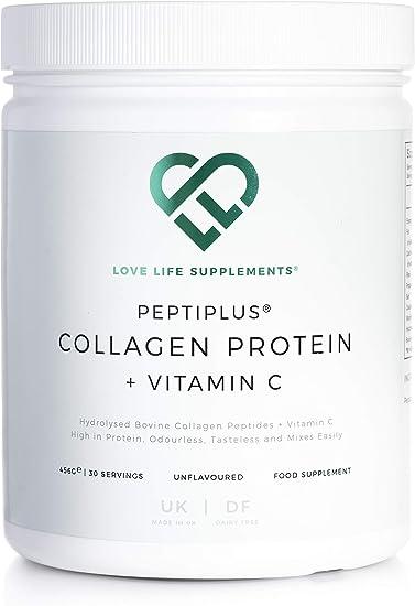PEPTIPLUS® Colágeno + Vitamina C de LLS | Colágeno bovino hidrolizado más vitamina C para la producción mejorada de colágeno | Paleo/Primal Friendly | ...
