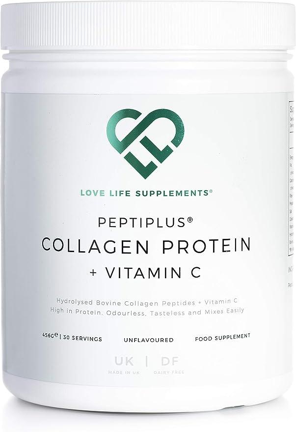 PEPTIPLUS® Colágeno + Vitamina C de LLS   Colágeno bovino hidrolizado más vitamina C para la producción mejorada de colágeno   Paleo/Primal Friendly   ...