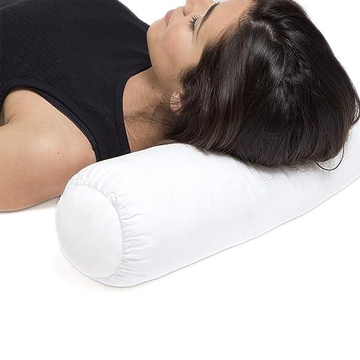Ortones | Almohada/Cojín Cervical Lumbar Cilíndrico | Alivia el Dolor postural del Cuello y el Hombro | Mantiene una Curva Natural