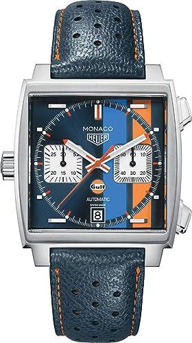 Relógio de luxo TAG Heuer Monaco Edição Especial, modelo CAW211R.FC6401