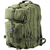 Hetto Large Military Tactical Backpack Large Army 3 Day Assault Pack Army MOLLE Bug Out Bag Waterproof 1000D Nylon for Outdoor Hiking Camping Trekking Hunting Travel School Daypack