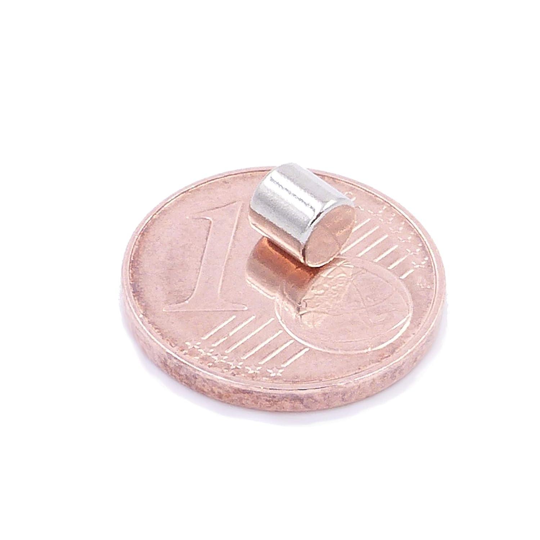 Grado Magnetico N52 magneti per modellismo Rotondi ed Extra potenti 50 Mini Magneti Dischi da 4x4mm Piccoli Foto Brudazon lavagne magnetiche magneti in neodimio Ultra potenti