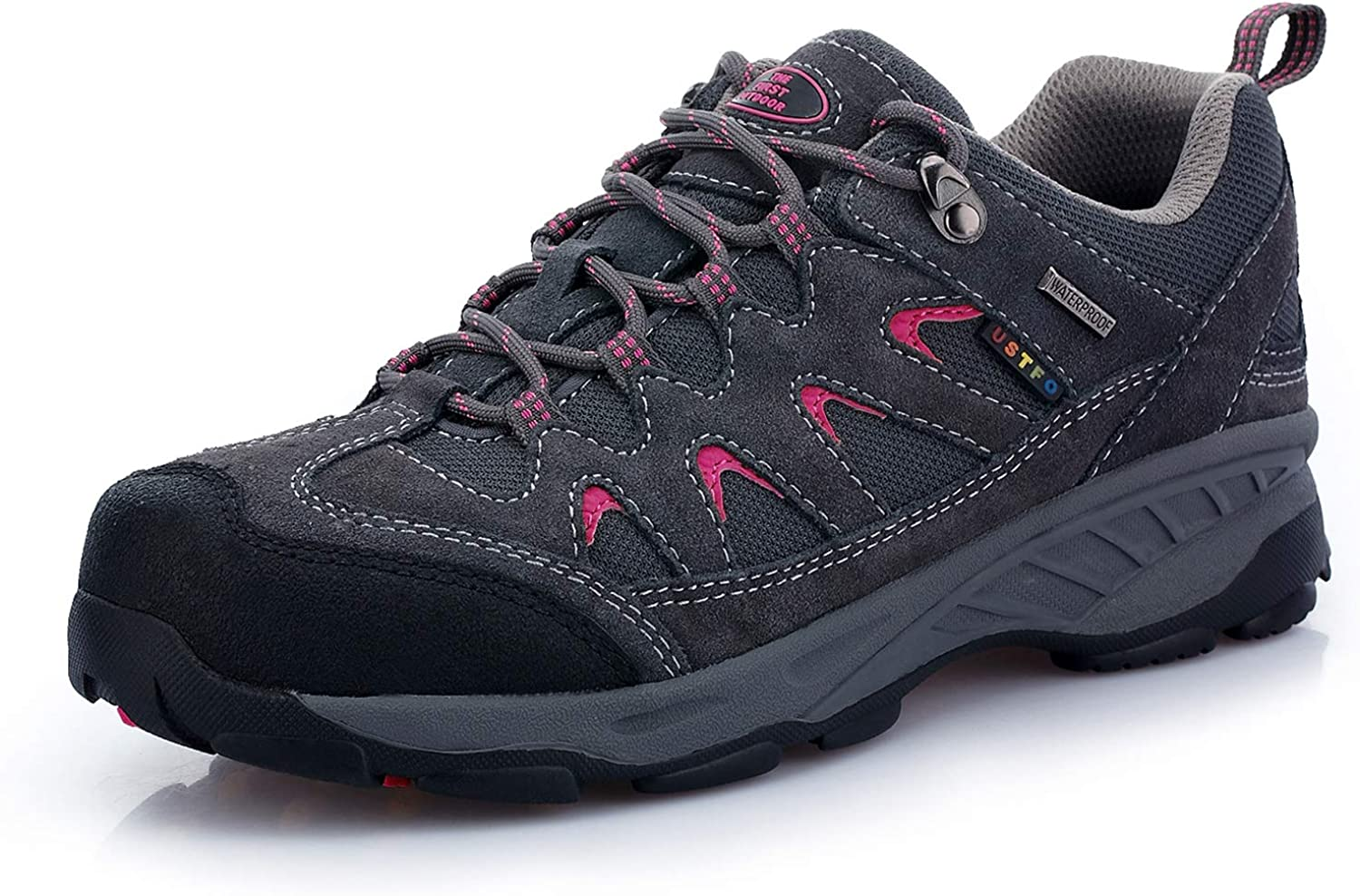 TFO Womens Waterproof Hiking Shoes Lightweight Breathable Running Trainers Low Rise Trekking Walking Boots