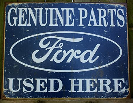 signs-unique Ford Genuine Parts Chapa Cartel (GA)