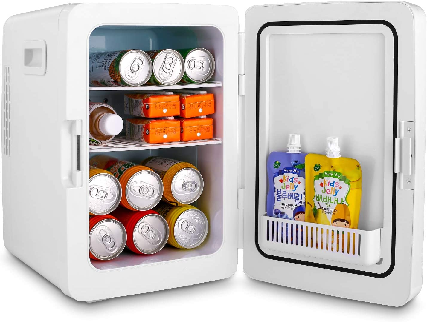 Mini Fridge 20liter Portable Ac Dc Powered Cooler And Warmer Dorm Car Ect Office Compact Refrigerator With Digital Thermostat And Control Temperature For Bedroom Kitchen Dining Small Appliances Rayvoltbike Com