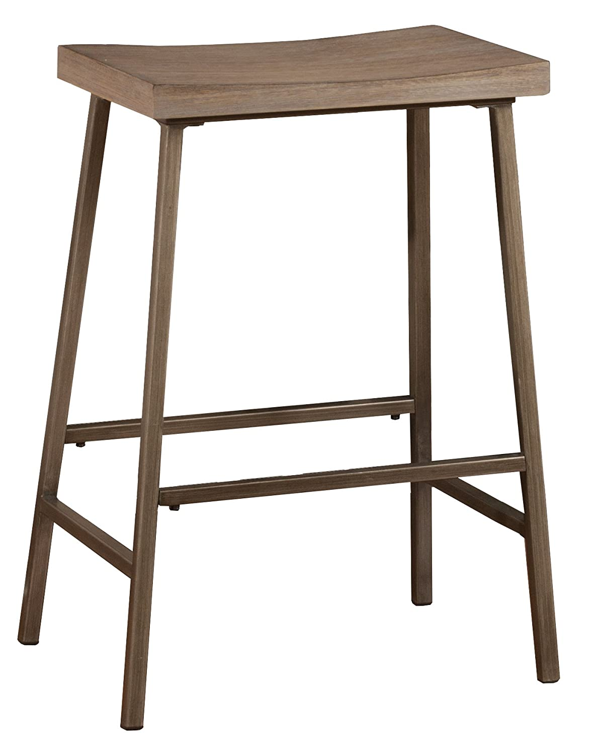 Hillsdale Furniture Kennon Stool, Distressed Brown Gray