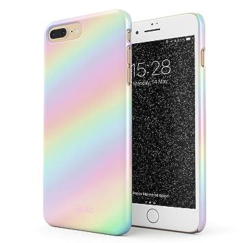 a50076d1737 Glitbit Funda Para iPhone 7 Plus / 8 Plus Case Pastel Rainbow Unicorn  Colors Ombre Pattern Holographic Tie Dye Pale Tumblr Kawaii Aesthetic ...