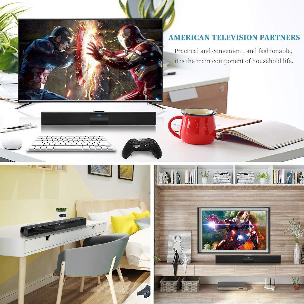 altoparlante stereo HD audio con telecomando audio potente telefono cellulare Barra per audio Supporto RCA//AUX TV tablet altoparlante Bluetooth cavo e senza fili slot per scheda TF