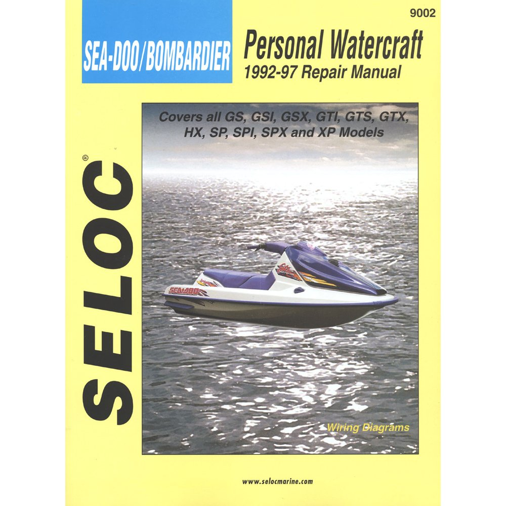 Amazon.com: 1 - Seloc Service Manual - Sea-Doo/Bombardier - 1992-97:  Everything Else