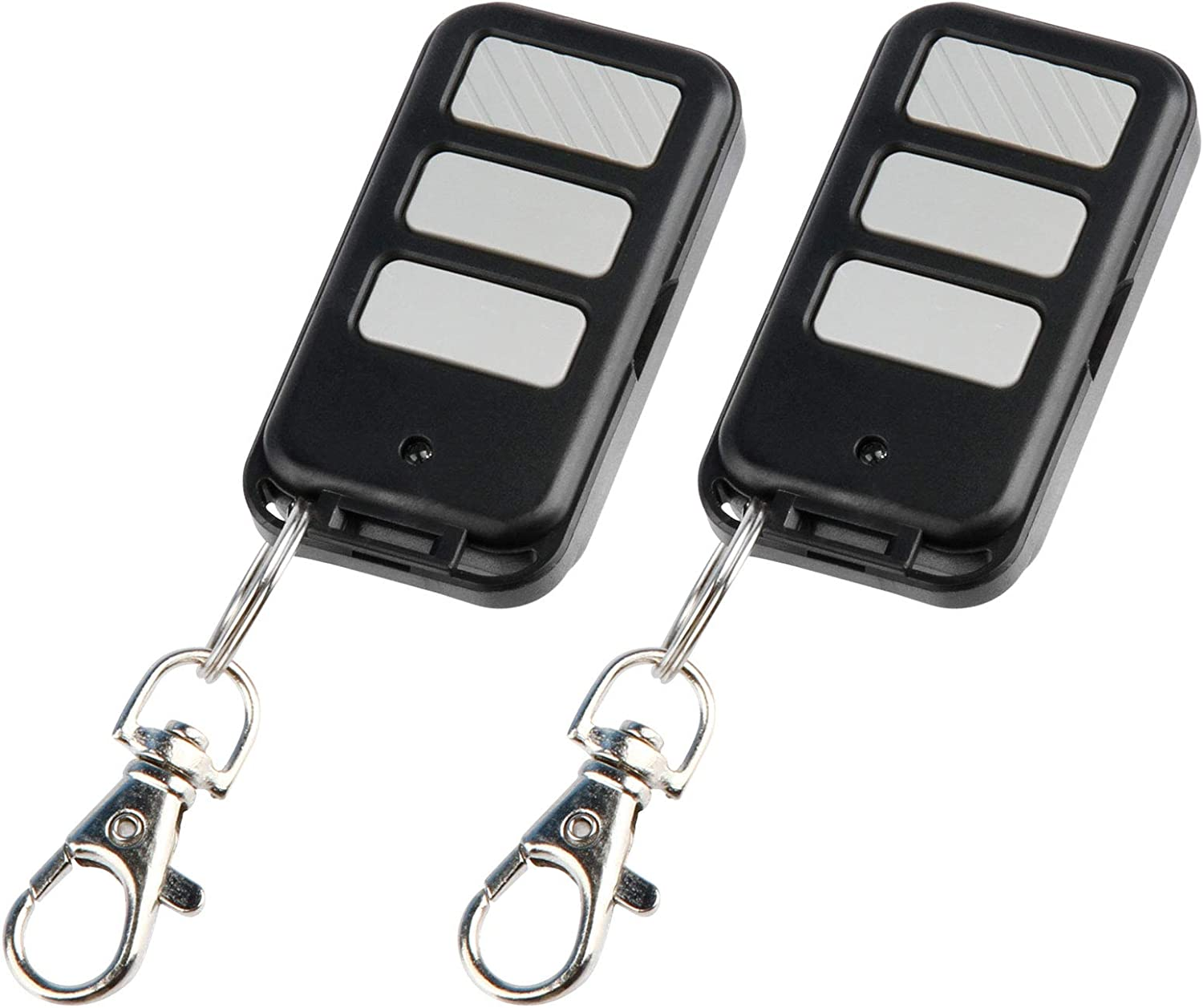 2 Mini Key Chain Garage Door Opener Remote for Liftmaster 971LM 973LM (1997-2005 Red Button)