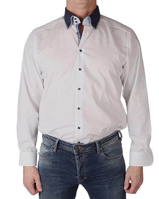 Marvelis Camisa Formal - Ajustada - con Botones - Manga Larga - Para Hombre: Amazon.es: Ropa y accesorios