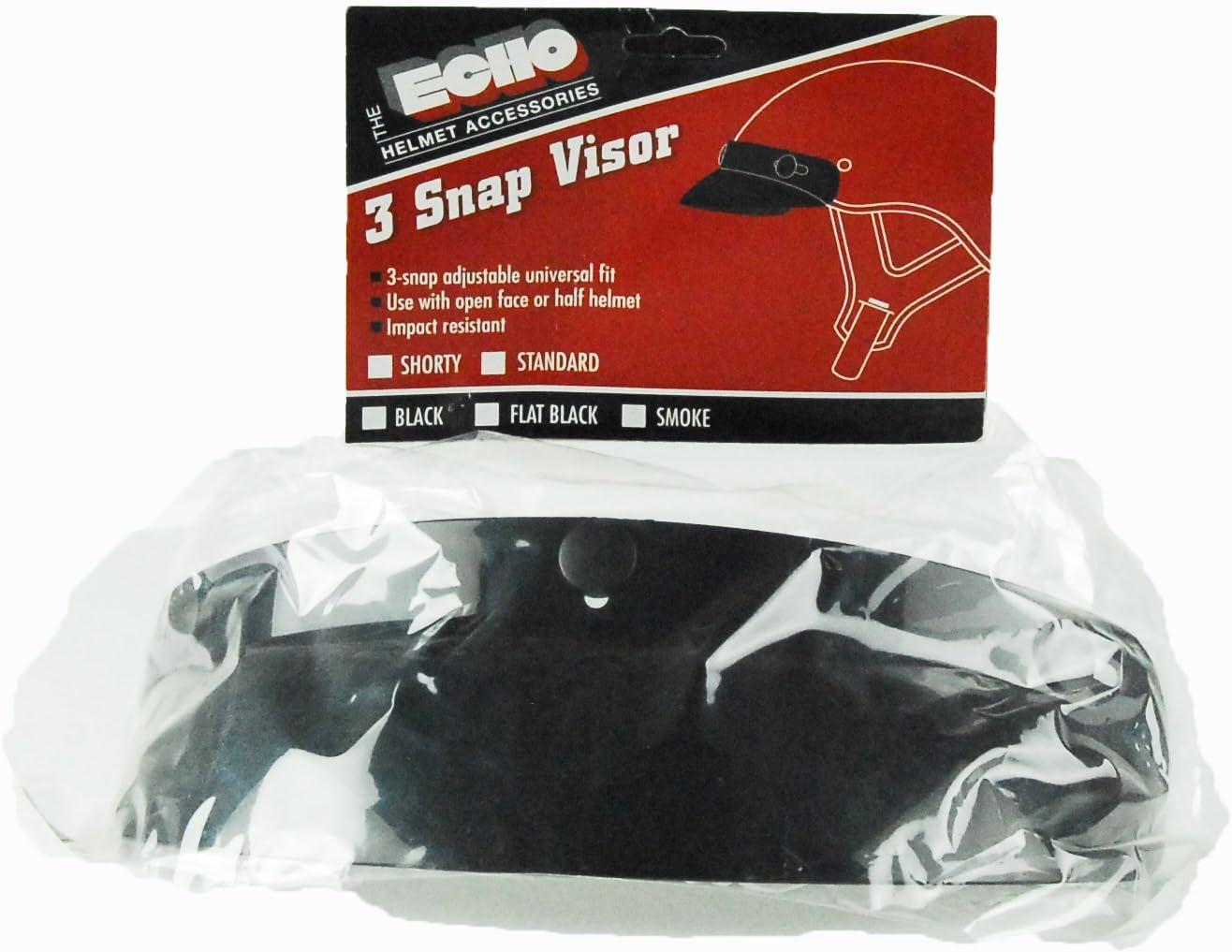 Echo 3-Snap Shorty Visor Flat Black