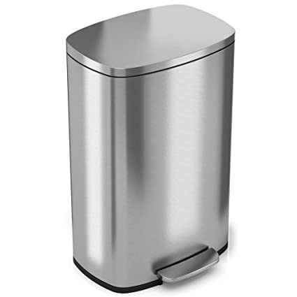 Ordinaire ITouchless SoftStep 13 Gallon Stainless Steel Step Trash Can With Odor  Filter U0026 Removable Inner Bucket