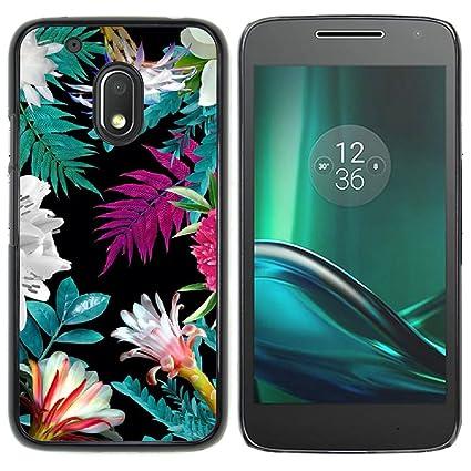 Amazon.com: Graphic4You Flores Delgado Carcasa para Motorola ...
