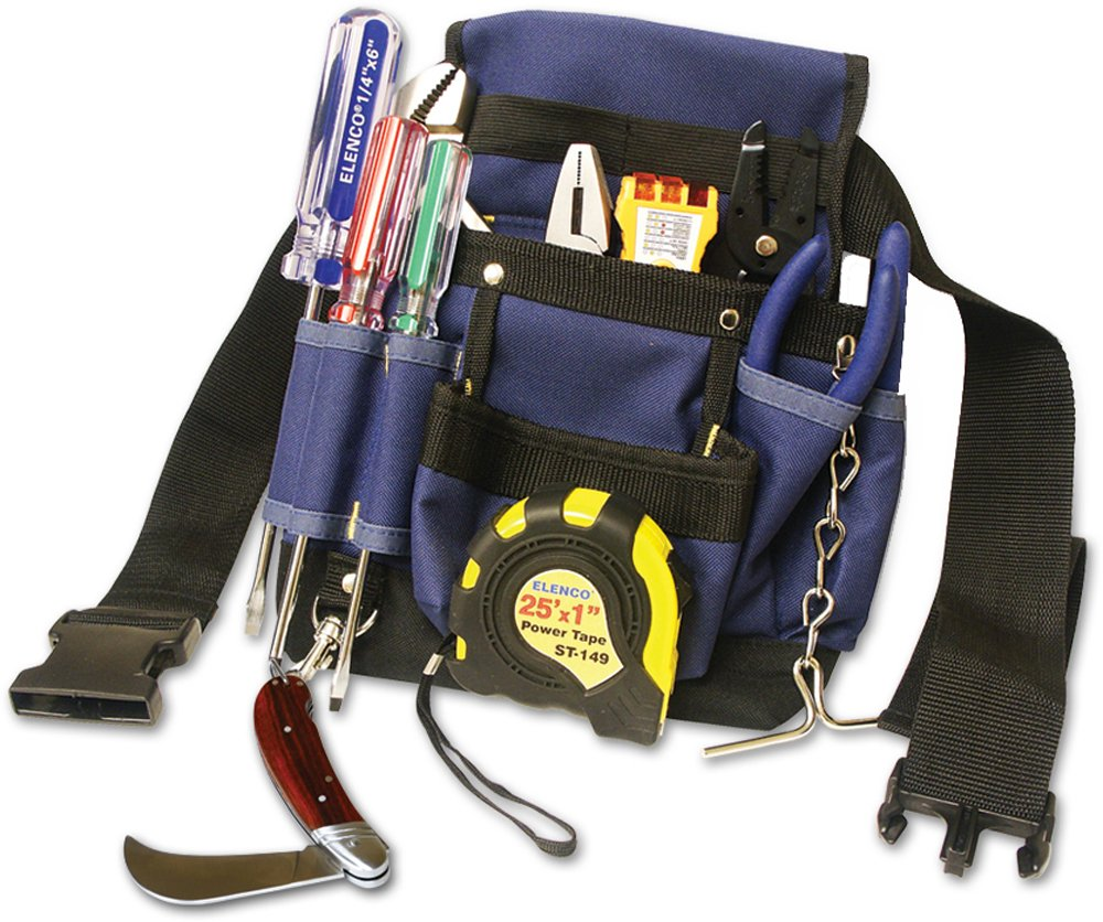 Electrician General Purpose Tool Kit with 13 Indispensable Tools by Elenco