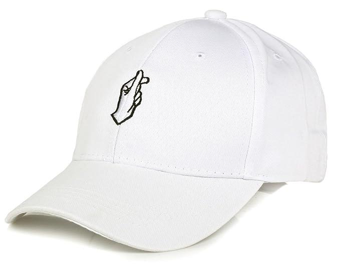 Moda Gorra de béisbol ajustable con bordada de algodón de estilo vintage  unisex (Blanco) c92feaaf649