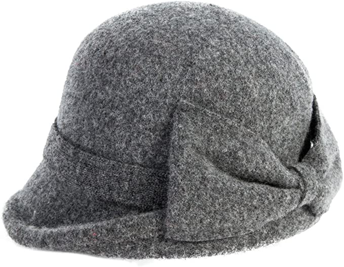 1920s Style Hats Comhats Womens 1920s Vintage Wool Felt Cloche Bucket Bowler Hat Winter Crushable £20.00 AT vintagedancer.com