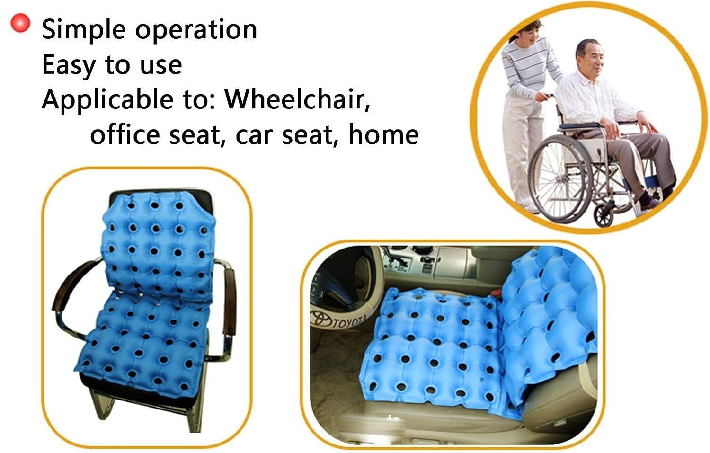 GxNI Asiento inflable médico de la oficina del coche de la silla del coche del cuadrado del cojín del amortiguador de la oficina con la bomba - anti cadera ...