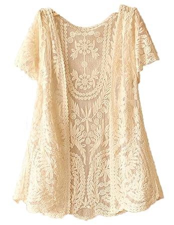 Amazoncom Trurendi Womens Crochet Knitted Open Vest Boho Casual