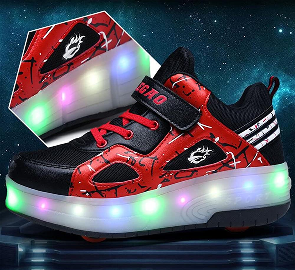 A2kmsmss5a Unisex Boys Girls LED Lighting Single Wheel//Double Wheels Roller Skate Sneakers